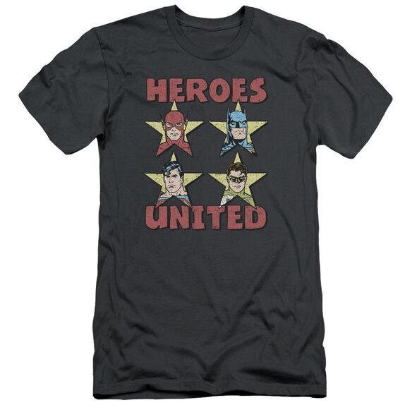 Jla United Stars Short Sleeve Adult T-Shirt