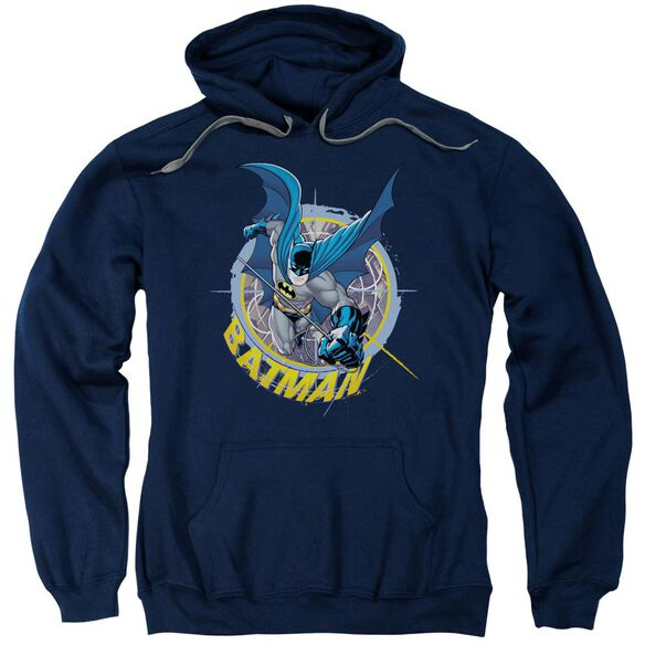 Batman In The Crosshairs Adult Pull Over Hoodie