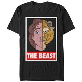 Beauty and the Beast Split Face T-Shirt