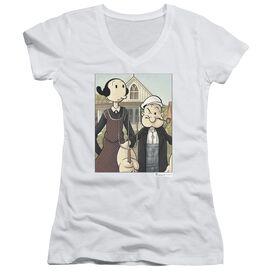 Popeye Popeye Gothic Junior V Neck T-Shirt