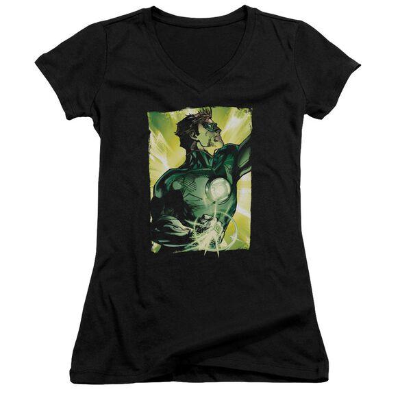 Green Lantern Up Up Junior V Neck T-Shirt