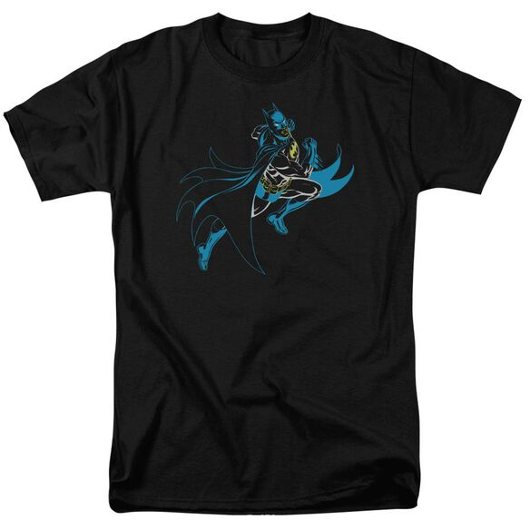 Batman Neon Batman Short Sleeve Adult T-Shirt