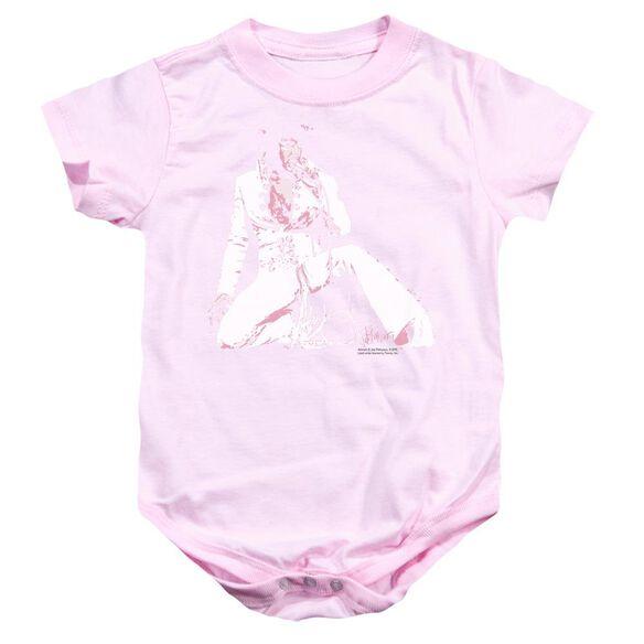 Elvis Please Love Me Infant Snapsuit Pink Sm