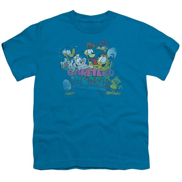 GARFIELD GARFIELD AND FRIENDS - S/S YOUTH 18/1 - TURQUOISE T-Shirt