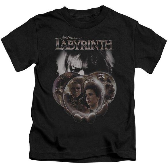 Labyrinth Globes Short Sleeve Juvenile Black T-Shirt