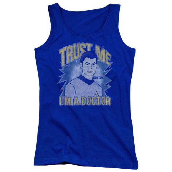 Star Trek Doctor Juniors Tank Top Royal