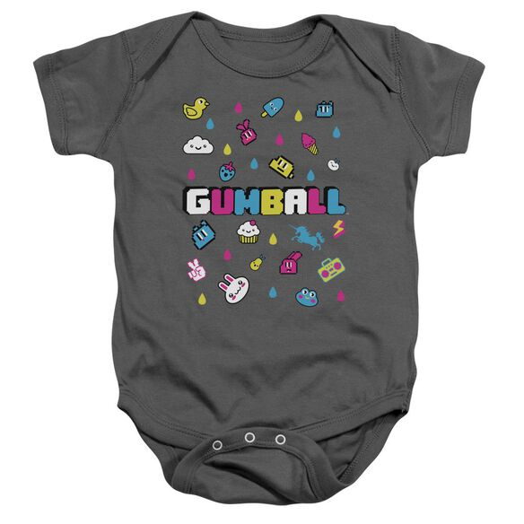 Amazing World Of Gumball Fun Drops Infant Snapsuit Charcoal