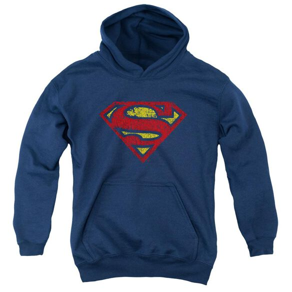 Superman Crackle S Youth Pull Over Hoodie
