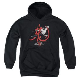 Bruce Lee High Flying-youth Pull-over Hoodie - Black