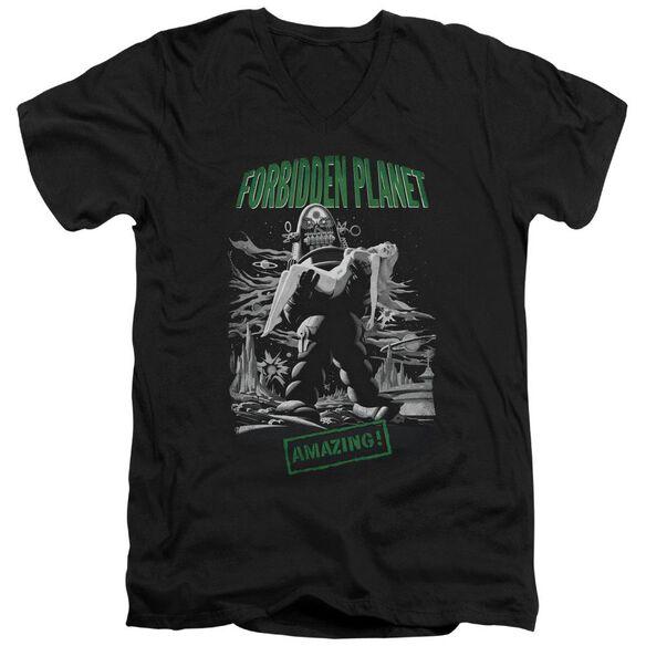 Forbidden Planet Robot Poster Short Sleeve Adult V Neck T-Shirt