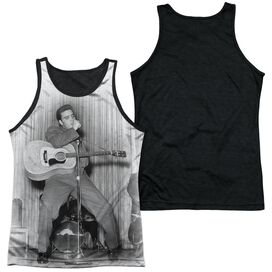 Elvis On Your Toes Adult Poly Tank Top Black Back