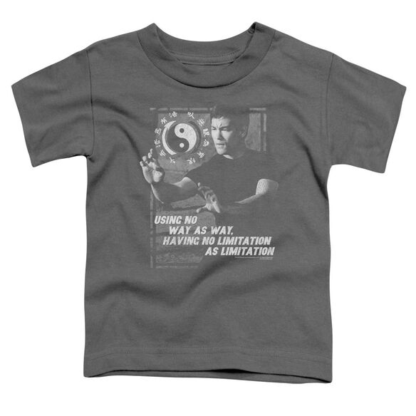 Bruce Lee No Way As A Way Short Sleeve Toddler Tee Charcoal T-Shirt