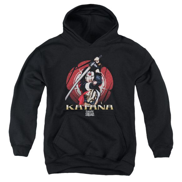 Suicide Squad Katana Flower Youth Pull Over Hoodie