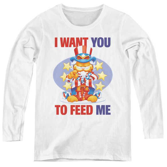 Garfield I Want You - Womens Long Sleeve Tee
