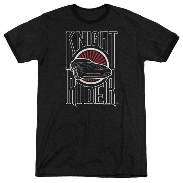 Knight Rider Logo Adult Heather Ringer