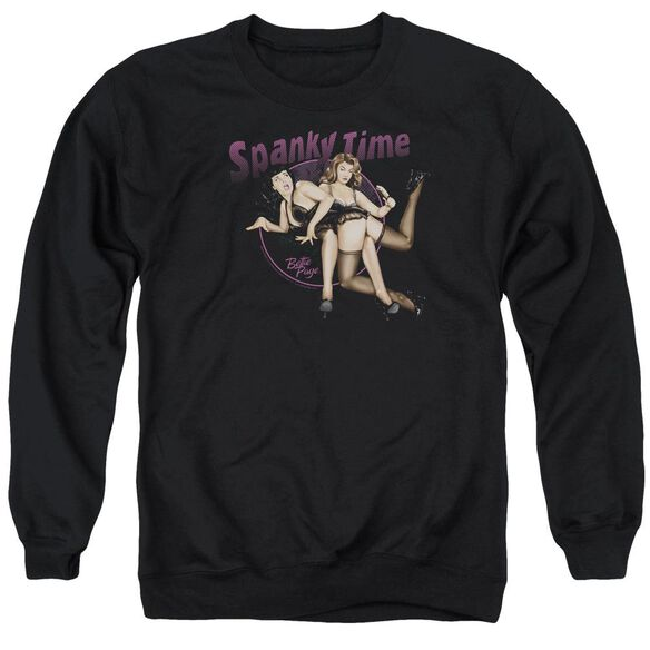 Bettie Page Spanky Time 2 Adult Crewneck Sweatshirt