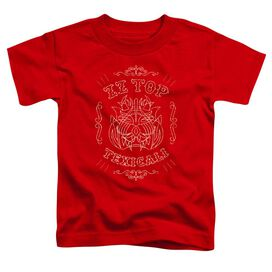 Zz Top Texicali Demon Short Sleeve Toddler Tee Red T-Shirt