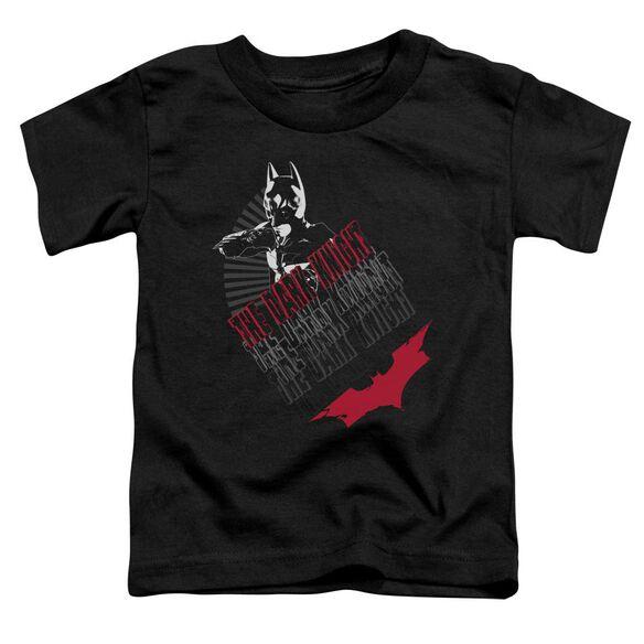 Dark Knight Stance Short Sleeve Toddler Tee Black T-Shirt