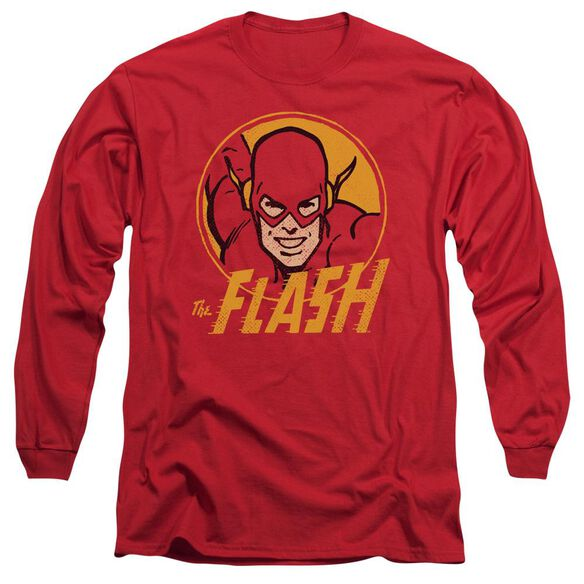 Dc Flash Flash Circle Long Sleeve Adult T-Shirt