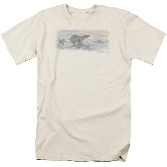 Wildlife On The Edge Short Sleeve Adult Cream T-Shirt