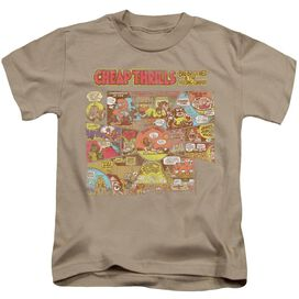 Big Brother And The Holding Company Cheap Thrills Short Sleeve Juvenile Sand T-Shirt