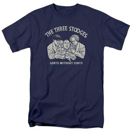 Three Stooges Without Cents Short Sleeve Adult T-Shirt