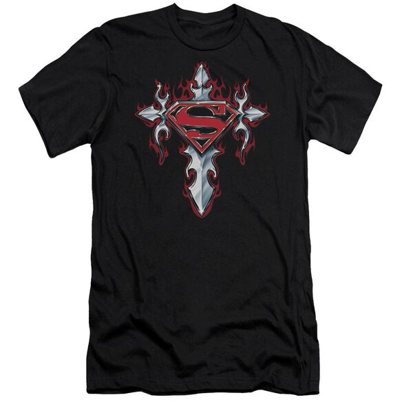 Superman Gothic Steel Logo Short Sleeve Adult T-Shirt