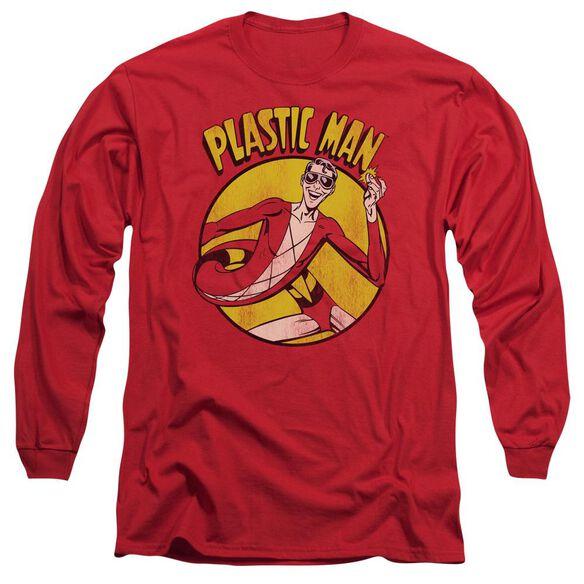 Dc Plastic Man Long Sleeve Adult T-Shirt