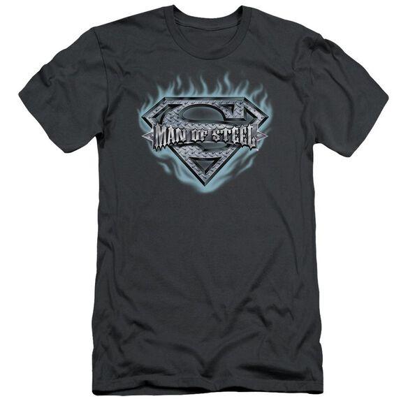 Superman Man Of Steel Shield Short Sleeve Adult T-Shirt