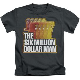 SIX MILLION DOLLAR MAN RUN FAST - S/S JUVENILE 18/1 - CHARCOAL - T-Shirt