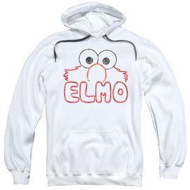 Sesame Street Elmo Letters Adult Pull Over Hoodie