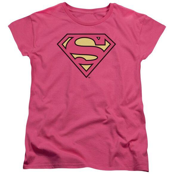 Dc Superman Classic Logo Short Sleeve Womens Tee Hot T-Shirt