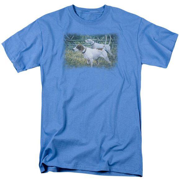 Wildlife English Pointer Pair Short Sleeve Adult Slate T-Shirt