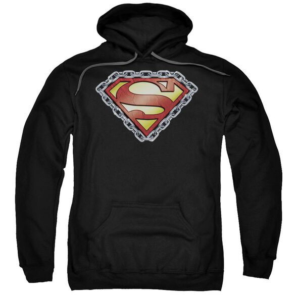 Superman Chained Shield Adult Pull Over Hoodie