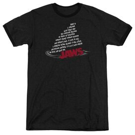 Jaws Dorsal Text Adult Heather Ringer