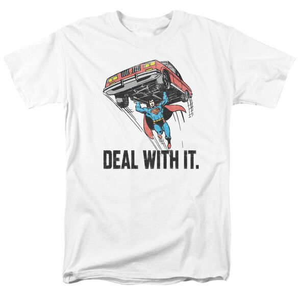 Dco Deal With It Short Sleeve Adult White T-Shirt
