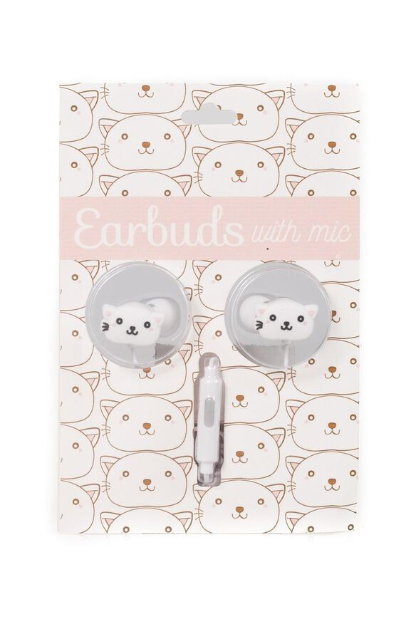 Cat Earbuds with microphone