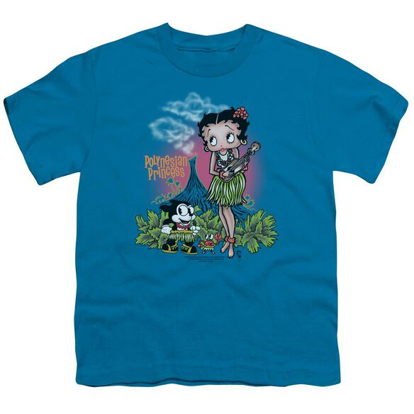 Betty Boop Polynesian Princess Short Sleeve Youth T-Shirt