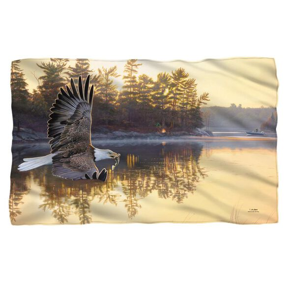 Wild Wings Gone Fishing 2 Woven Throw