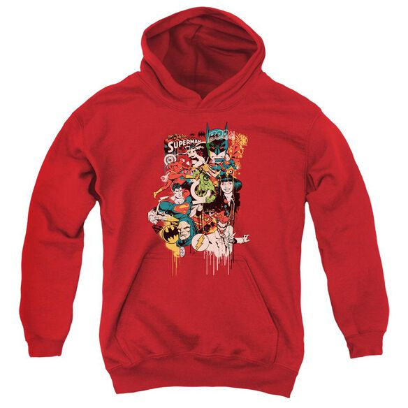 Dc Dripping Characters Youth Pull Over Hoodie