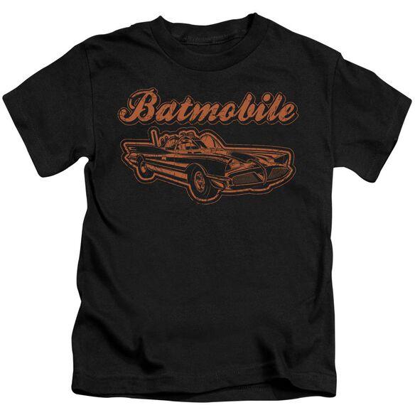 Batman Batmobile Short Sleeve Juvenile Black T-Shirt