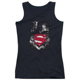 Superman Darkest Hour - Juniors Tank Top - Black