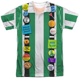Office Space Chotchkies Costume Short Sleeve Adult Poly Crew T-Shirt