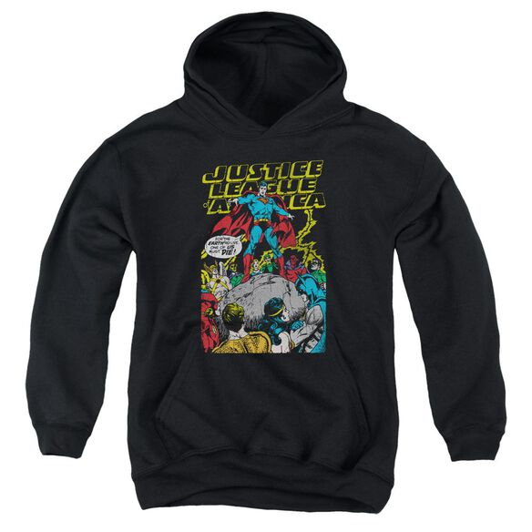 Jla Ultimate Scarifice Youth Pull Over Hoodie