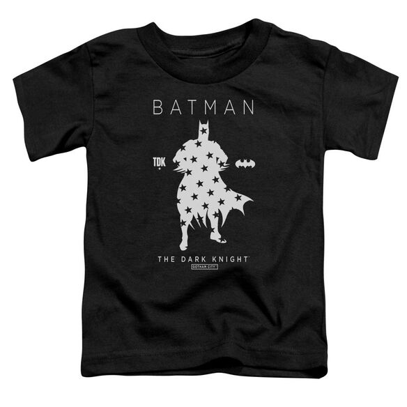 Batman Star Silhouette Short Sleeve Toddler Tee Black T-Shirt