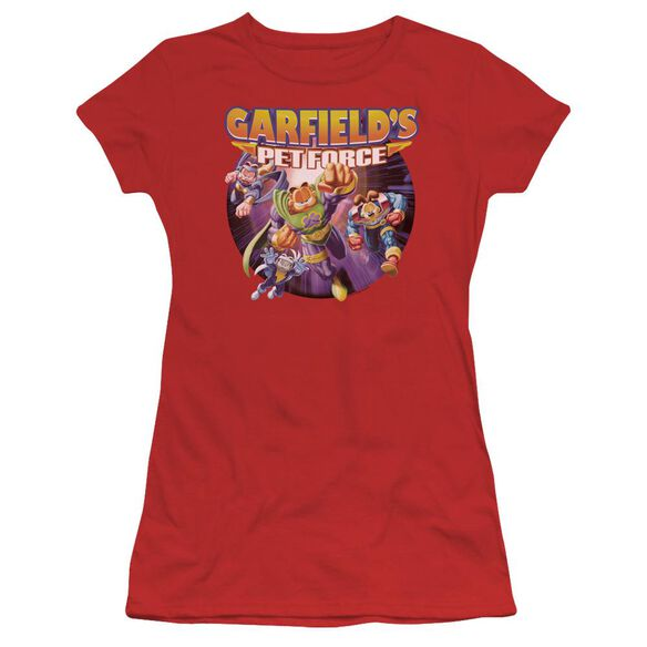 Garfield Pet Force Four Short Sleeve Junior Sheer T-Shirt