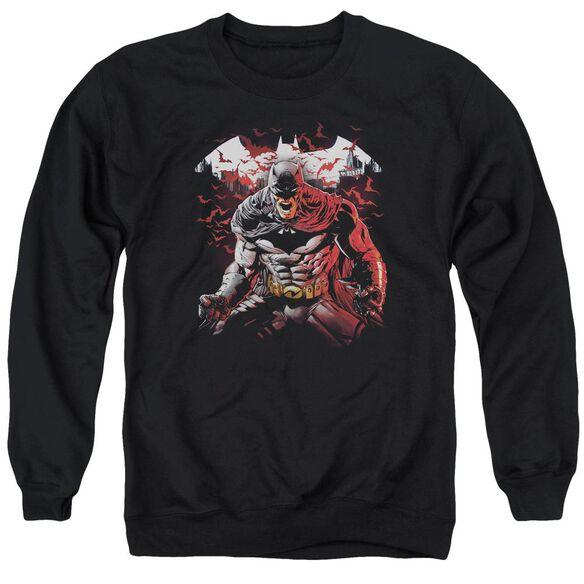 Batman Raging Bat - Adult Crewneck Sweatshirt - Black