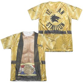 Rocky Yellow Robe (Front Back Print) Adult Poly Cotton Short Sleeve Tee T-Shirt