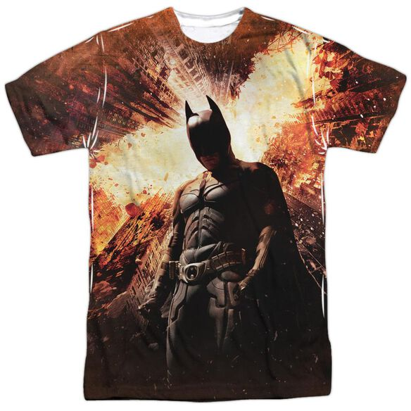 Dark Knight Rises Fire Poster Short Sleeve Adult Poly Crew T-Shirt