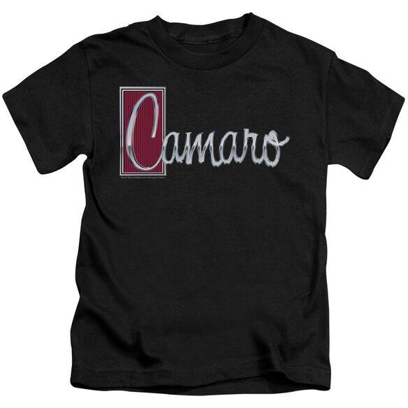 Chevrolet Chrome Script Short Sleeve Juvenile Black T-Shirt